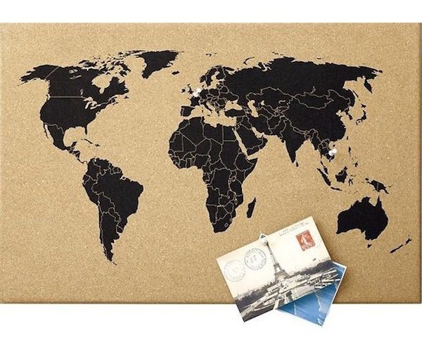 World map cork board gadget flow world map cork board gumiabroncs Image collections