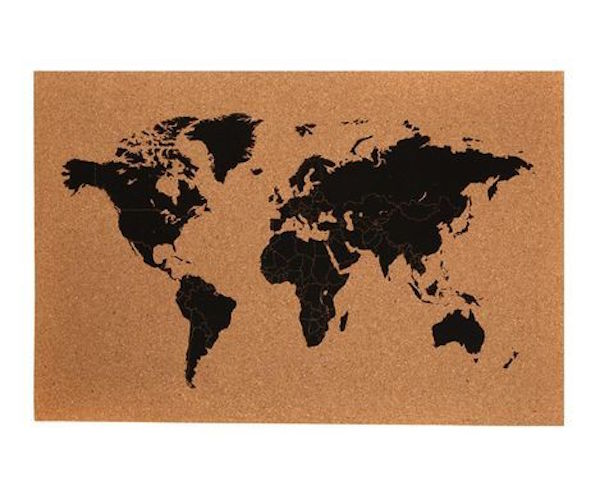 World Map Cork Board » Gadget Flow