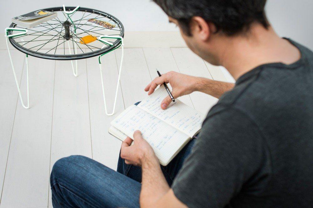 Bike Wheel table