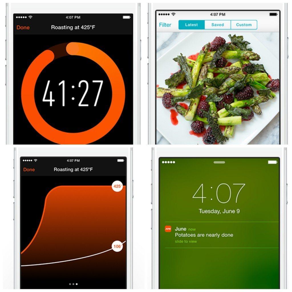 June app screens