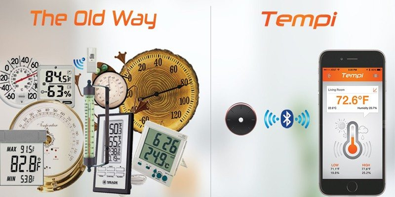 Tempi temperature and humidity monitor