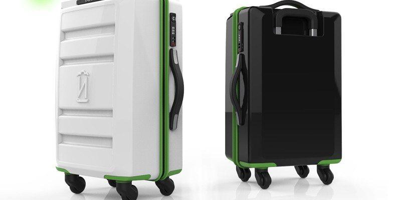 VoltVoyage wireless charging suitcase