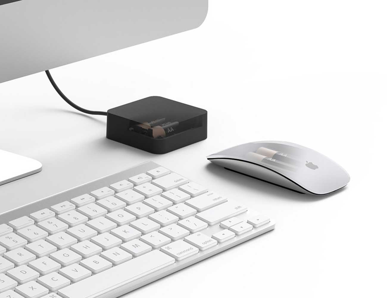 Aaden by Bluelounge – USB powered charger For Your Keyboard and Mouse