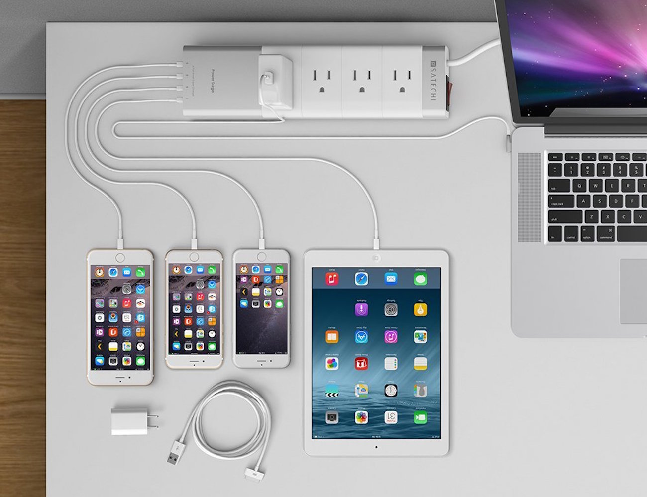 Aluminum+4-Outlet+Home%2FOffice+Power+Strip+By+Satechi%C2%AE
