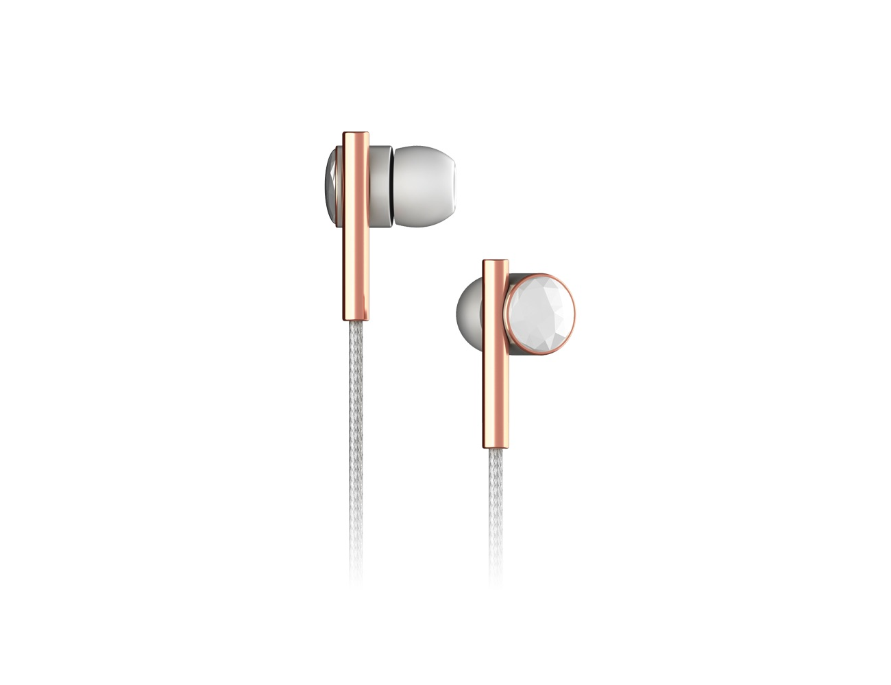 Caeden Faceted Ceramic & Rose Gold Linea N°2 Earbuds
