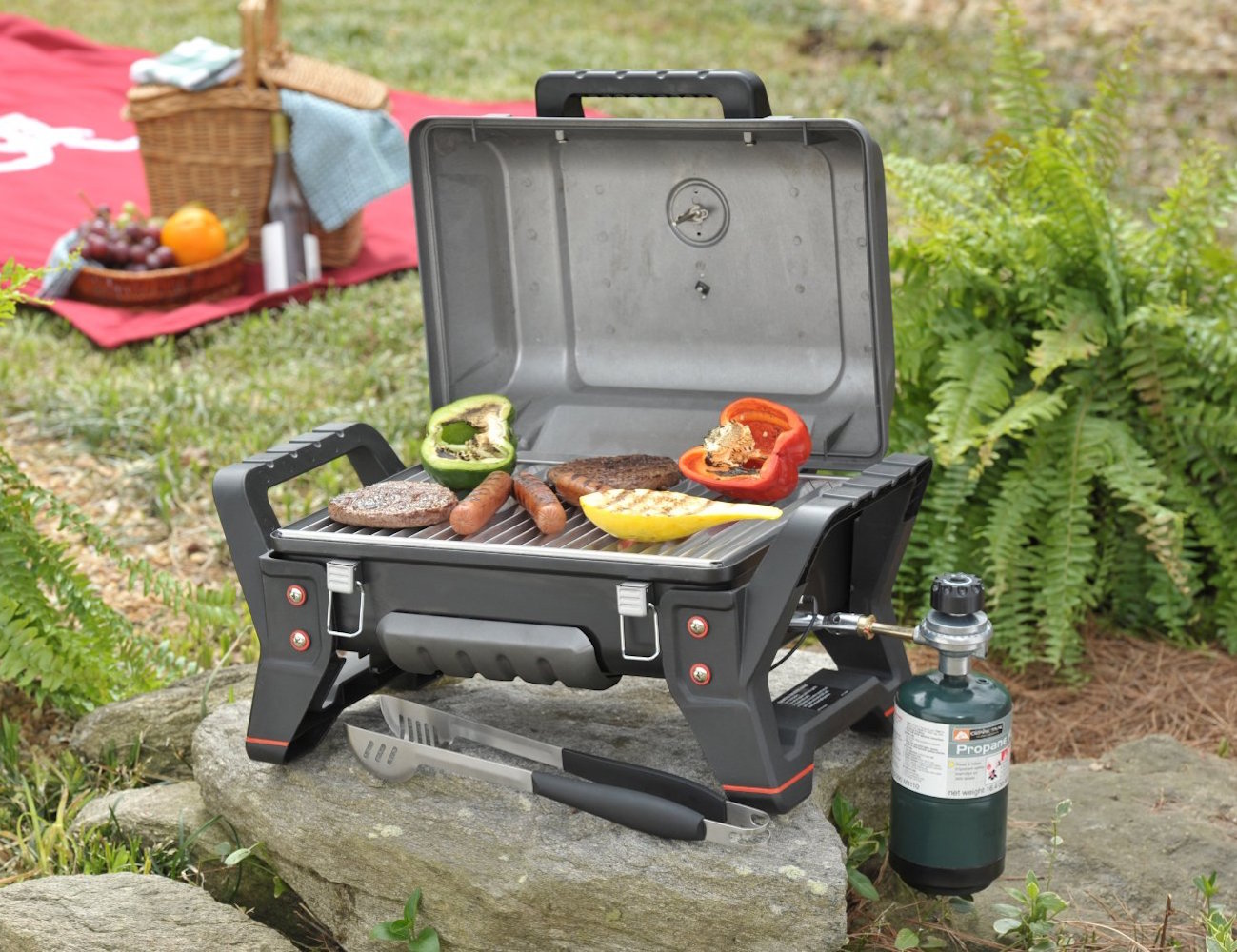 char broil grill2go x200 portable grill for on the go bbqs review. Black Bedroom Furniture Sets. Home Design Ideas