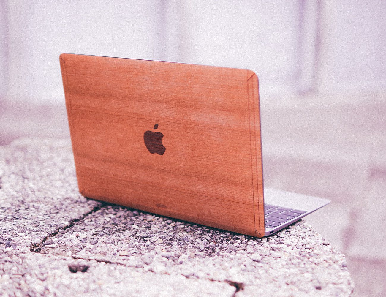 "Cherry for Macbook 12"" – Handmade Cherry Wood Cover Made in USA"