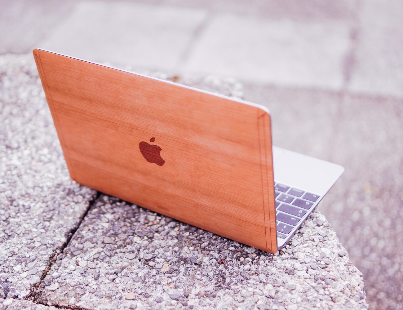 """Cherry for Macbook 12"""" – Handmade Cherry Wood Cover Made in USA"""