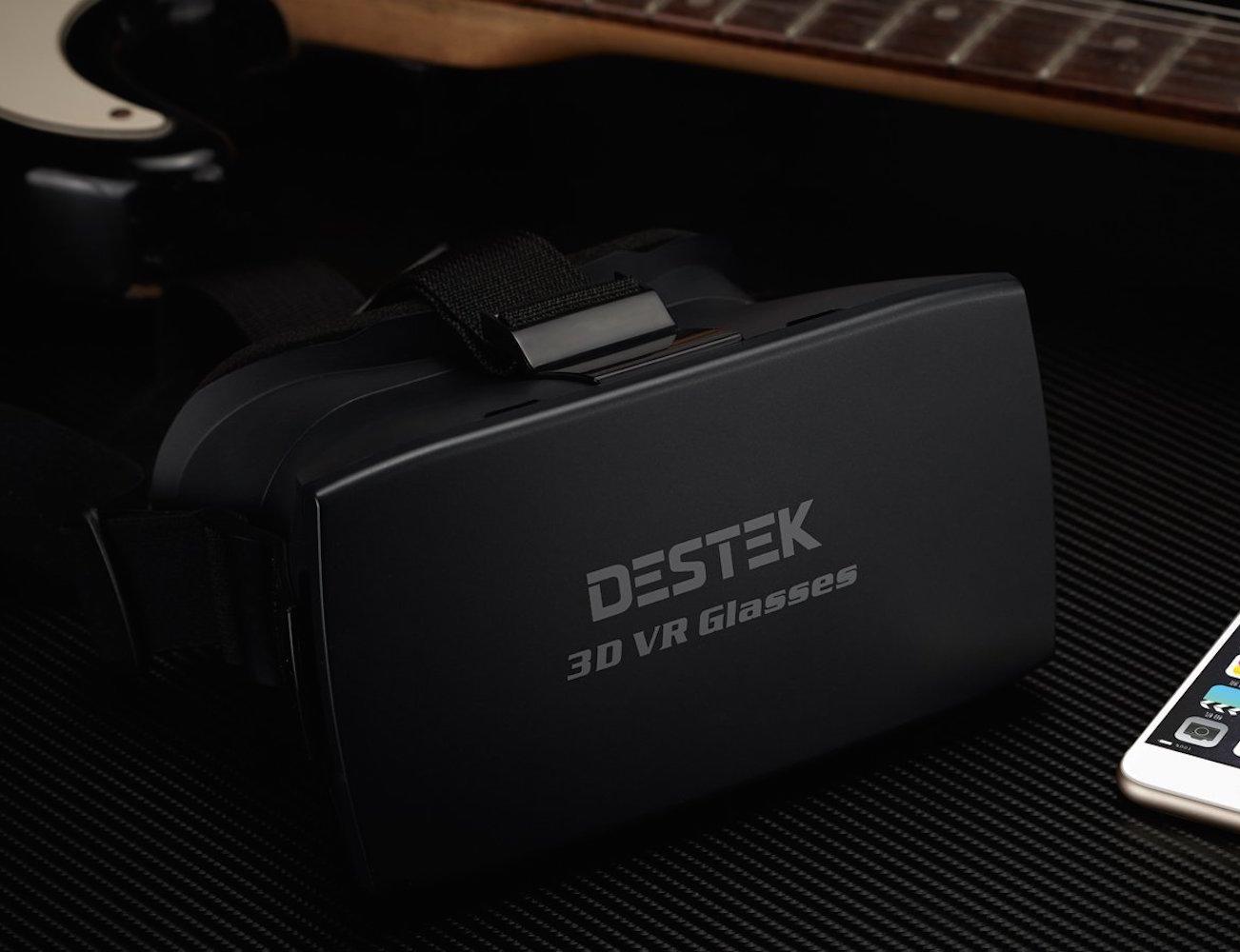 3d vr virtual reality headset by destek gadget flow. Black Bedroom Furniture Sets. Home Design Ideas