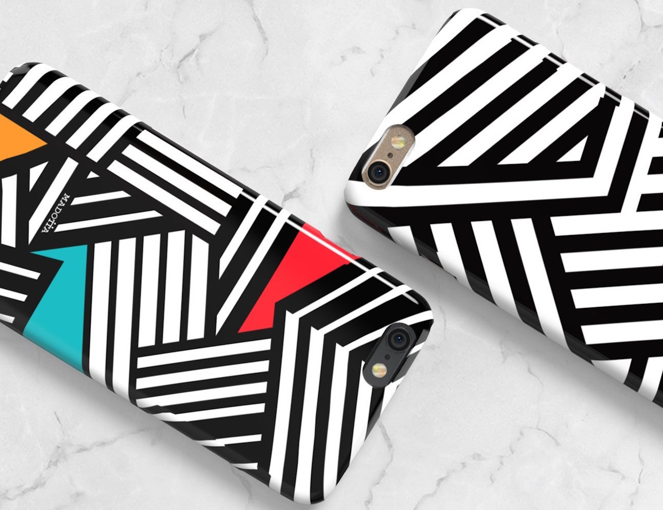 Dazzle Camouflage Phone Case by Madotta