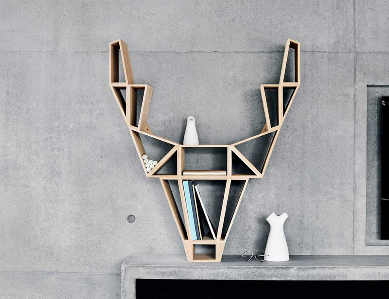 Deer Shelf – Impressive Bookshelf Inspired From Wild Deer