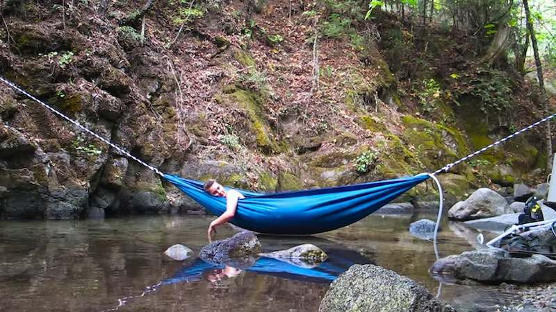 hydro hammock over water