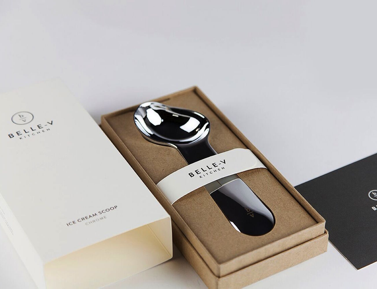 Hand-Polished Ice Cream Scoop by Belle-V Kitchen