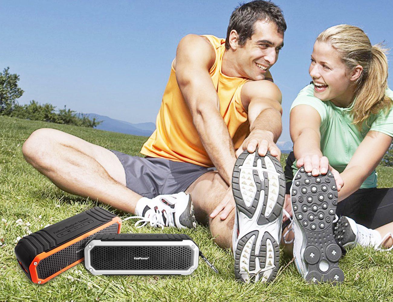 KooPower C26 – Wireless Bluetooth Speaker With Mic, Hook & Flashlight