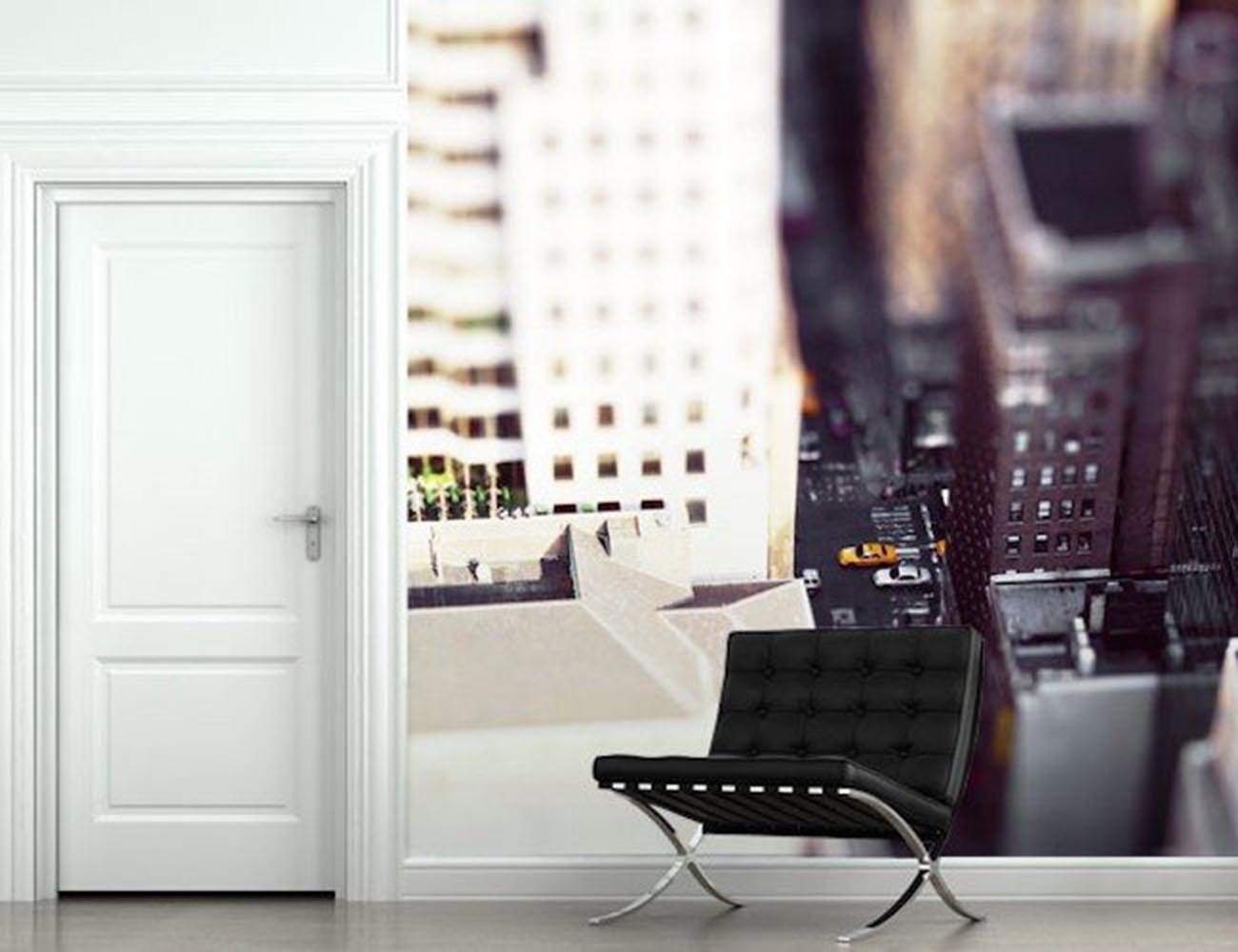 Miniature nyc wall mural gadget flow for Cd mural wall display