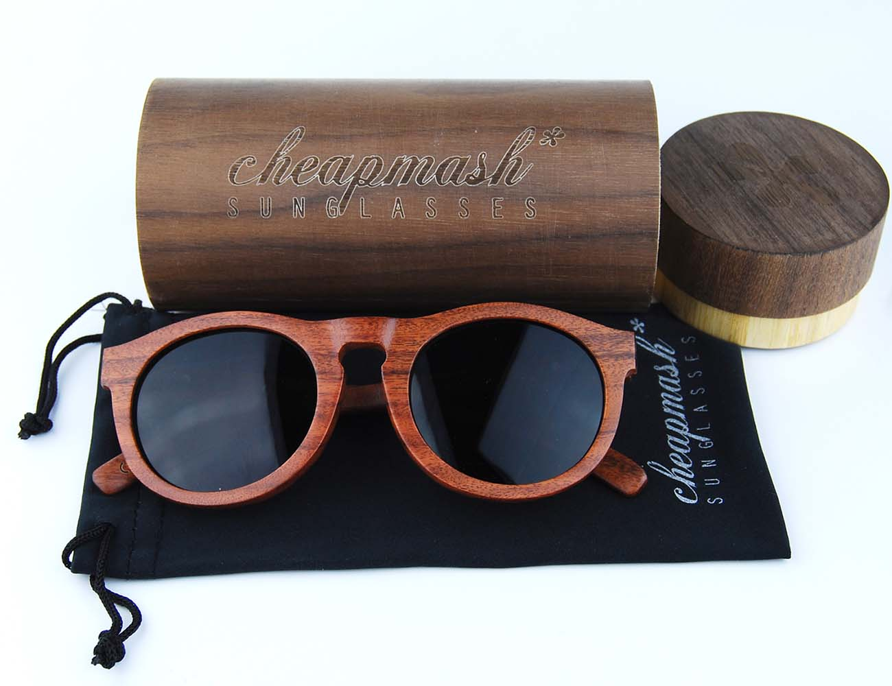 Onyx Wooden Sunglasses – Handmade Design With Polarized Lenses