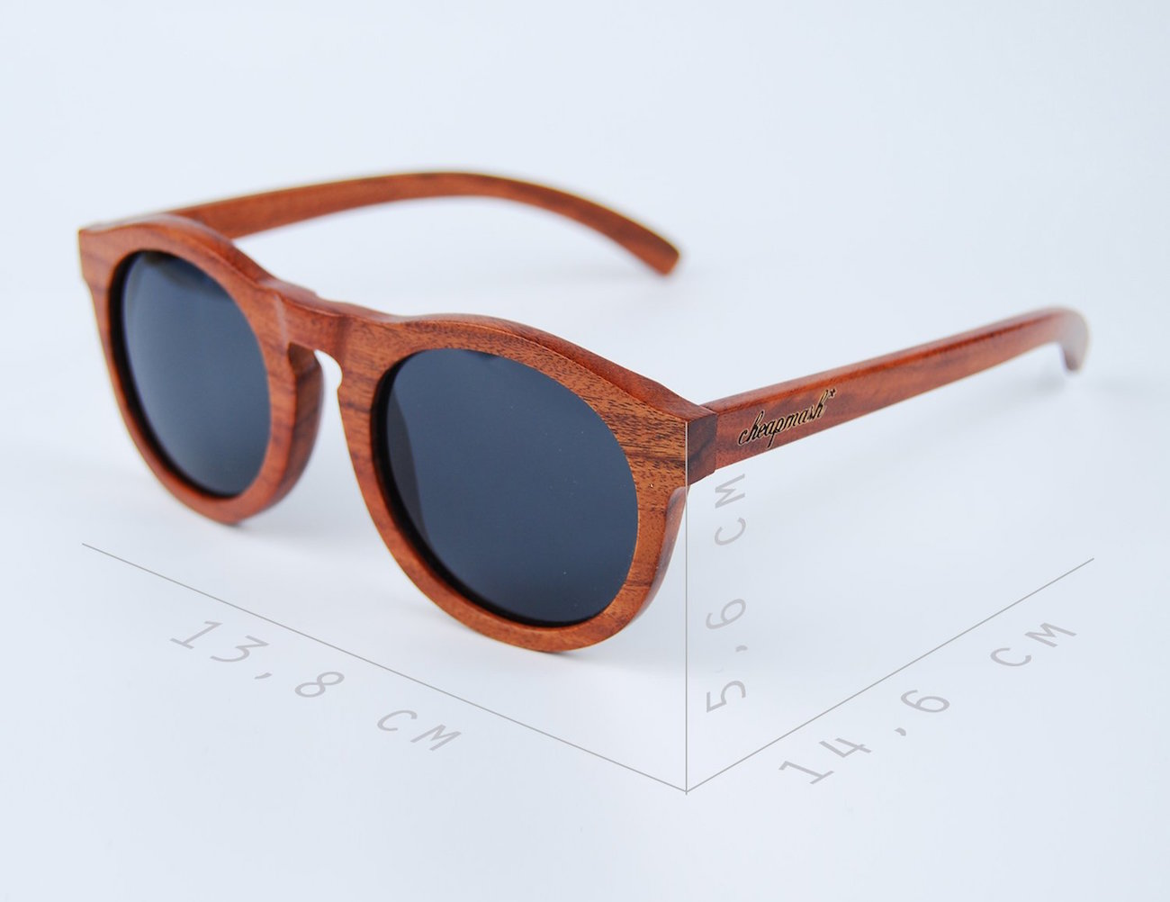 Onyx Wooden Sunglasses – Handmade Design With Polarized Lenses