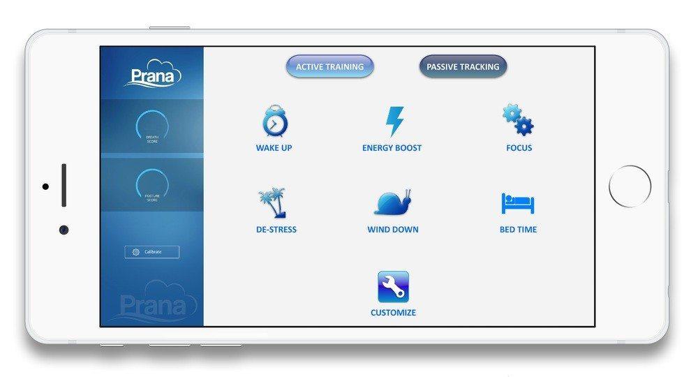 Prana app selections