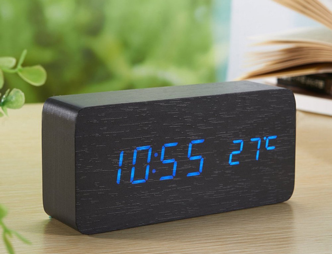 Sea Team – Wood-imitation Electronic Desk Clock