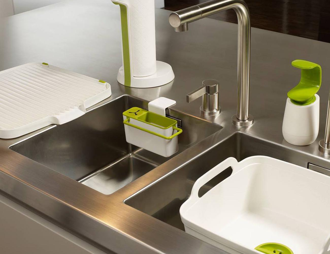 sink aid in sink caddy by joseph joseph gadget flow. Black Bedroom Furniture Sets. Home Design Ideas