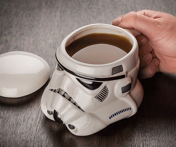 Those days of the week when you wish to sit back and relax with a cup of fresh coffee can be a bit more entertaining if you have the Star Wars Stormtrooper Helmet Mug.