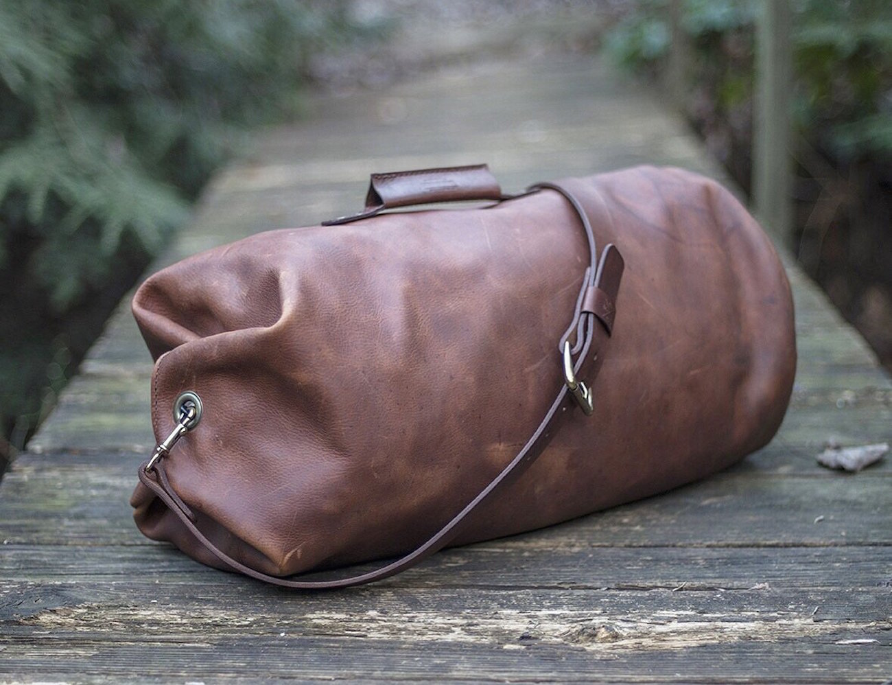 Gunnar Leather Military Style Duffle Bag