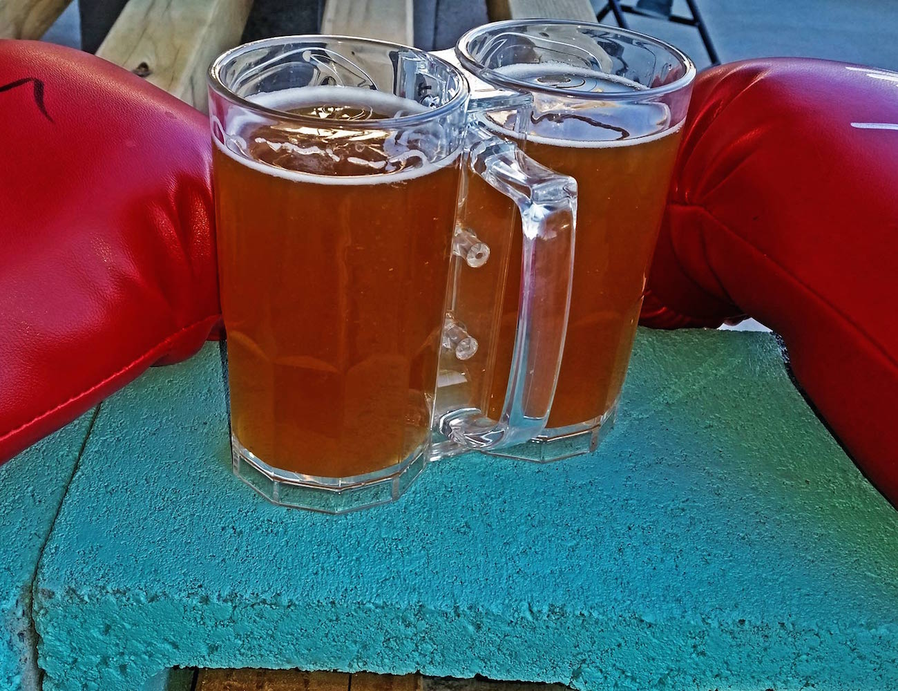 Two Fisted Drinker Beer Mug