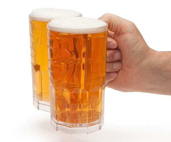 Two Fisted Drinker Beer Mug
