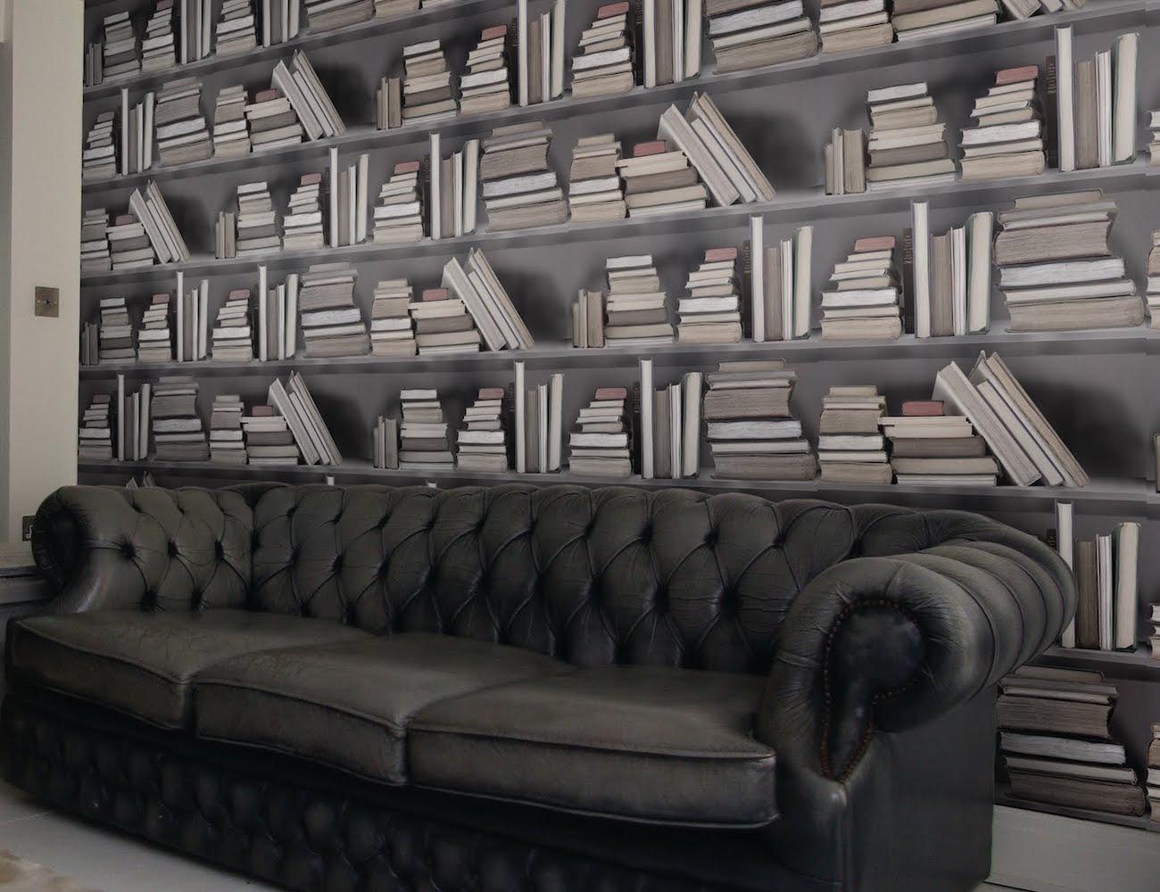 Vintage Bookshelf Wallpaper Gadget Flow