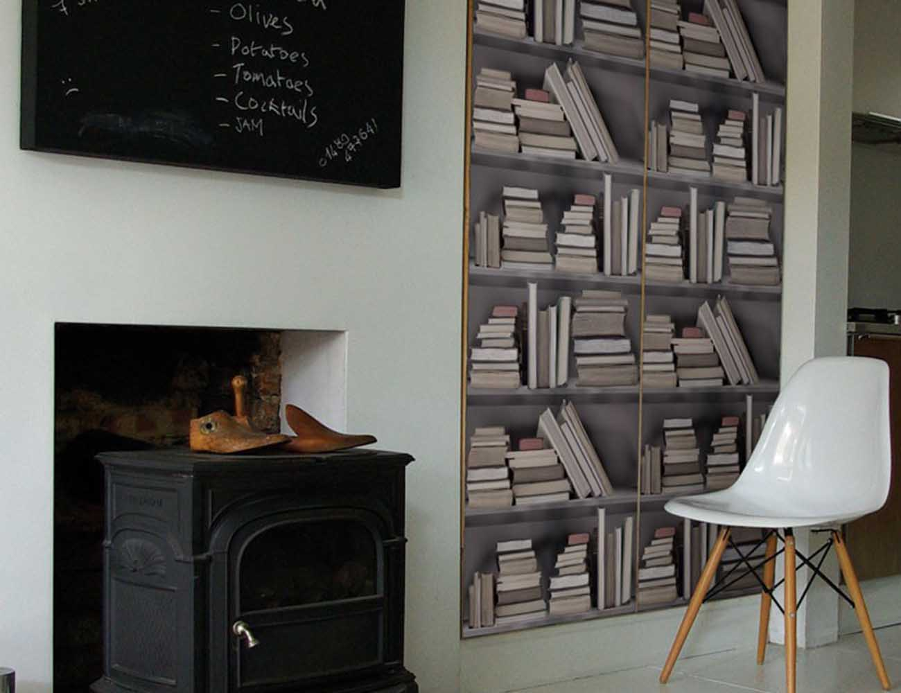 p rustic contemporary walls republic bookshelf wallpaper vintage