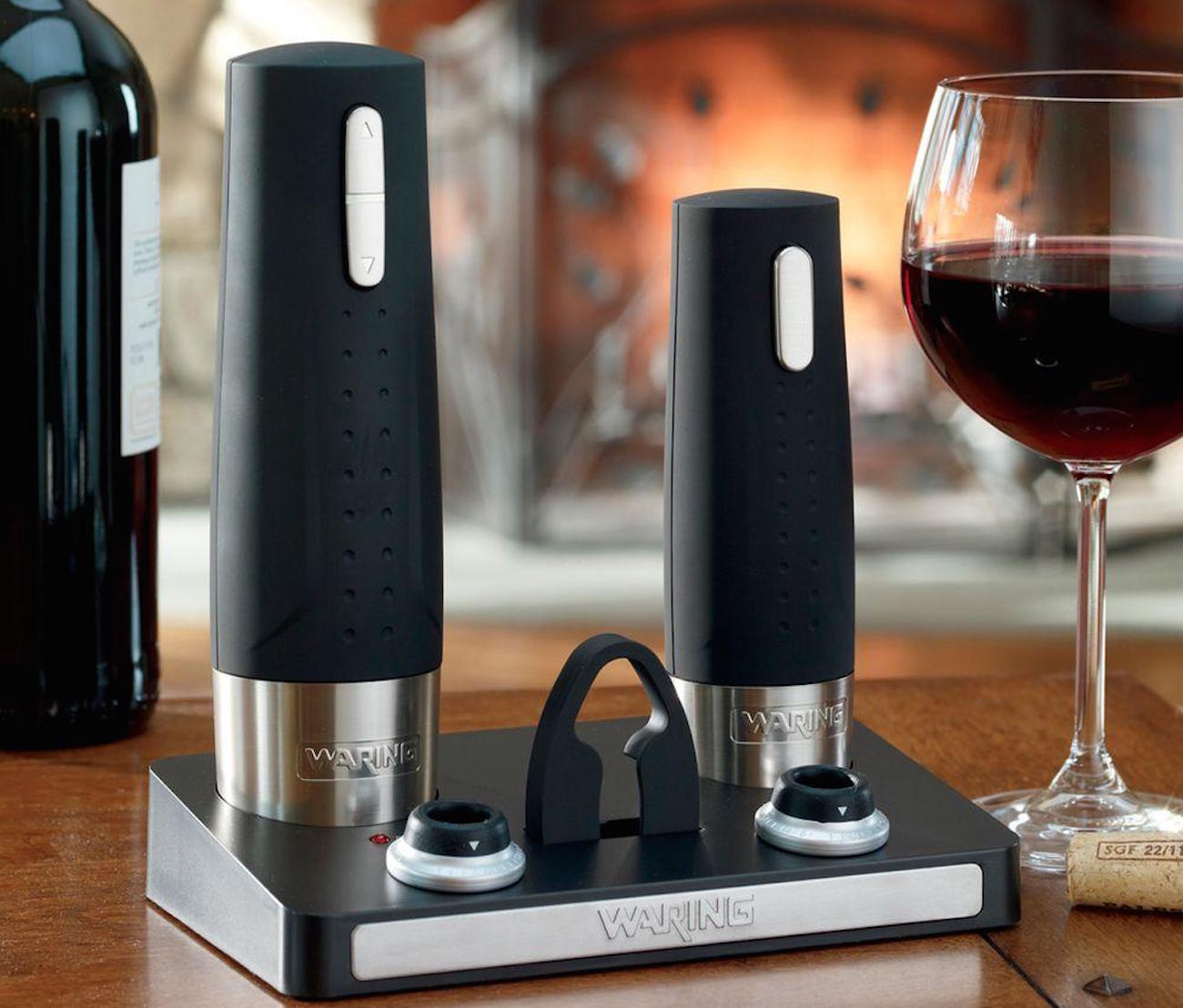 Waring Pro Wine Center – With an Electric Wine Opener and Wine Preserver