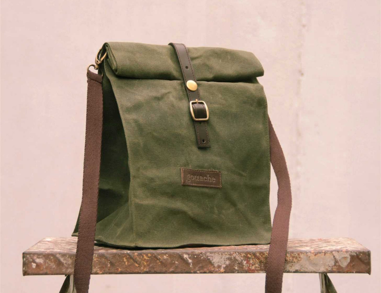 Waxed Canvas Lunch Bag by Gouache
