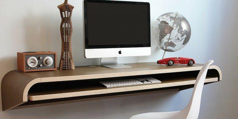 Minimal Float Wall Desk by Orange22