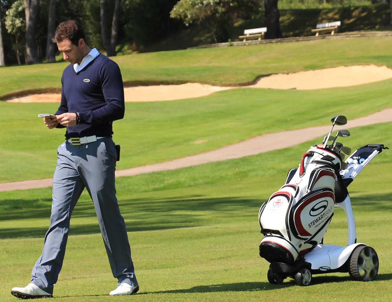 Automatic Following Golf Trolley
