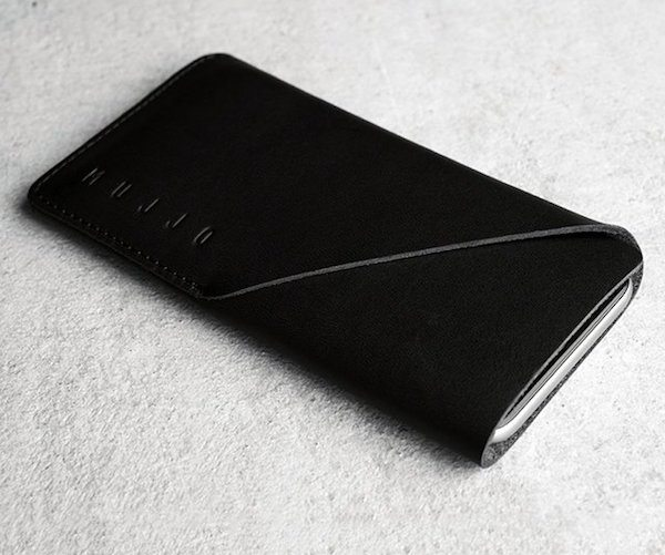 Black+Leather+IPhone+6%2F6s+Wallet+Sleeve+By+Mujjo
