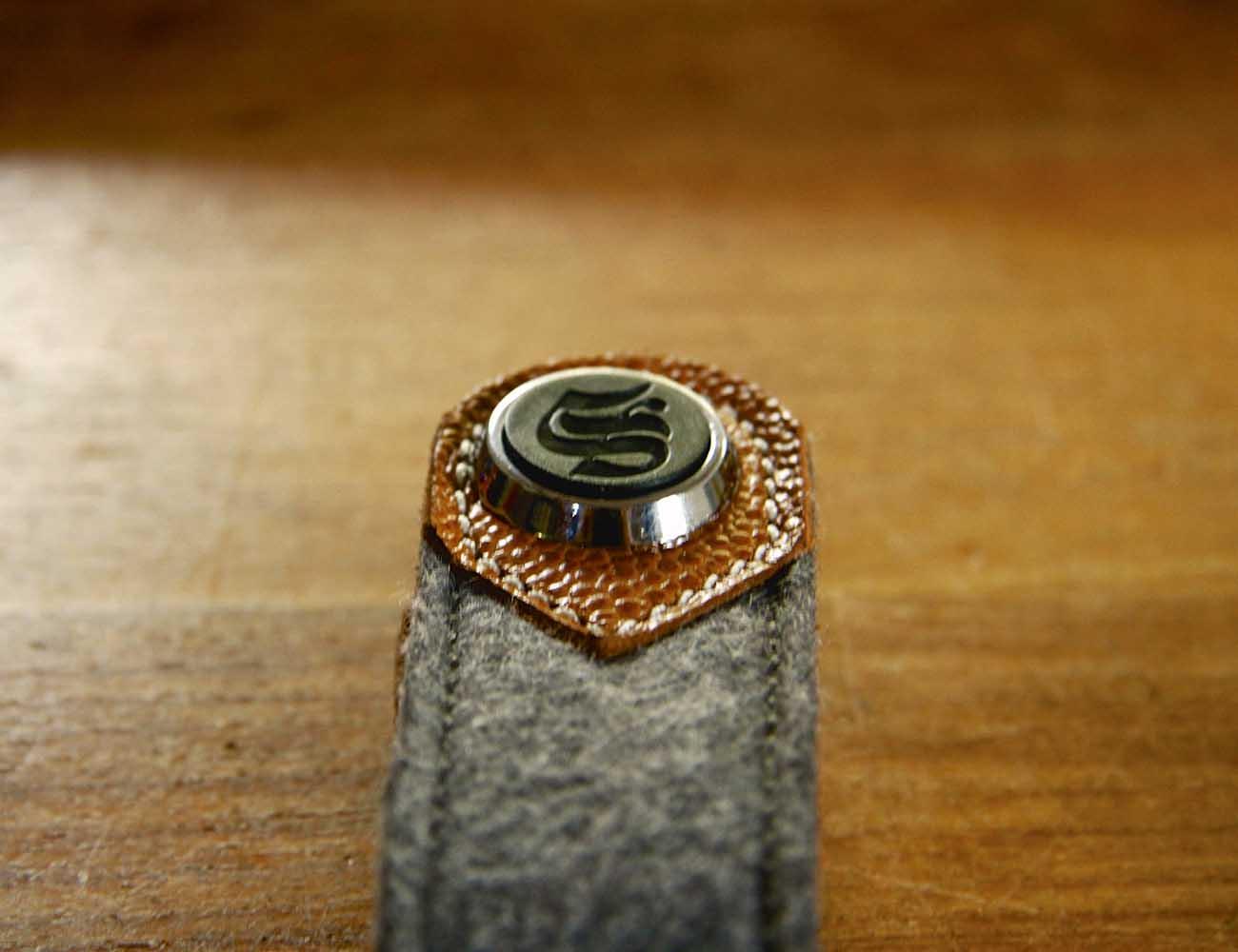 Brown Leather and Wool Felt Key Organizer by S-Key
