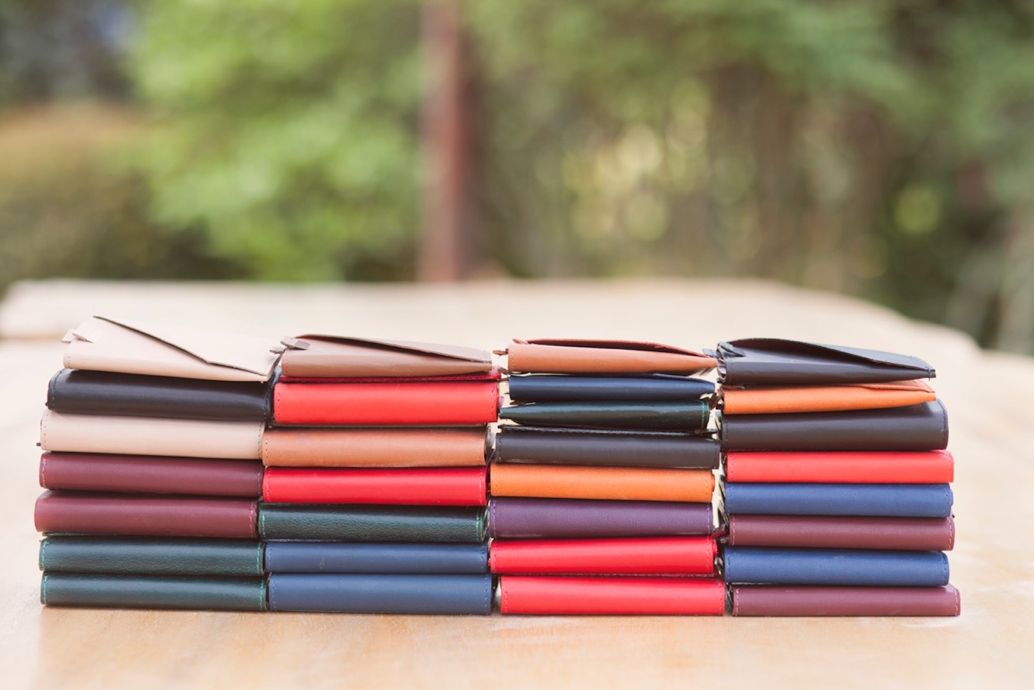 Frenchie Speed Leather Wallet has an AirTag-ready option and includes RFID blocking