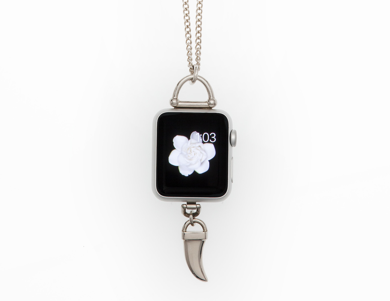 Horn Charm Pendant Necklace for Apple Watch by Bucardo