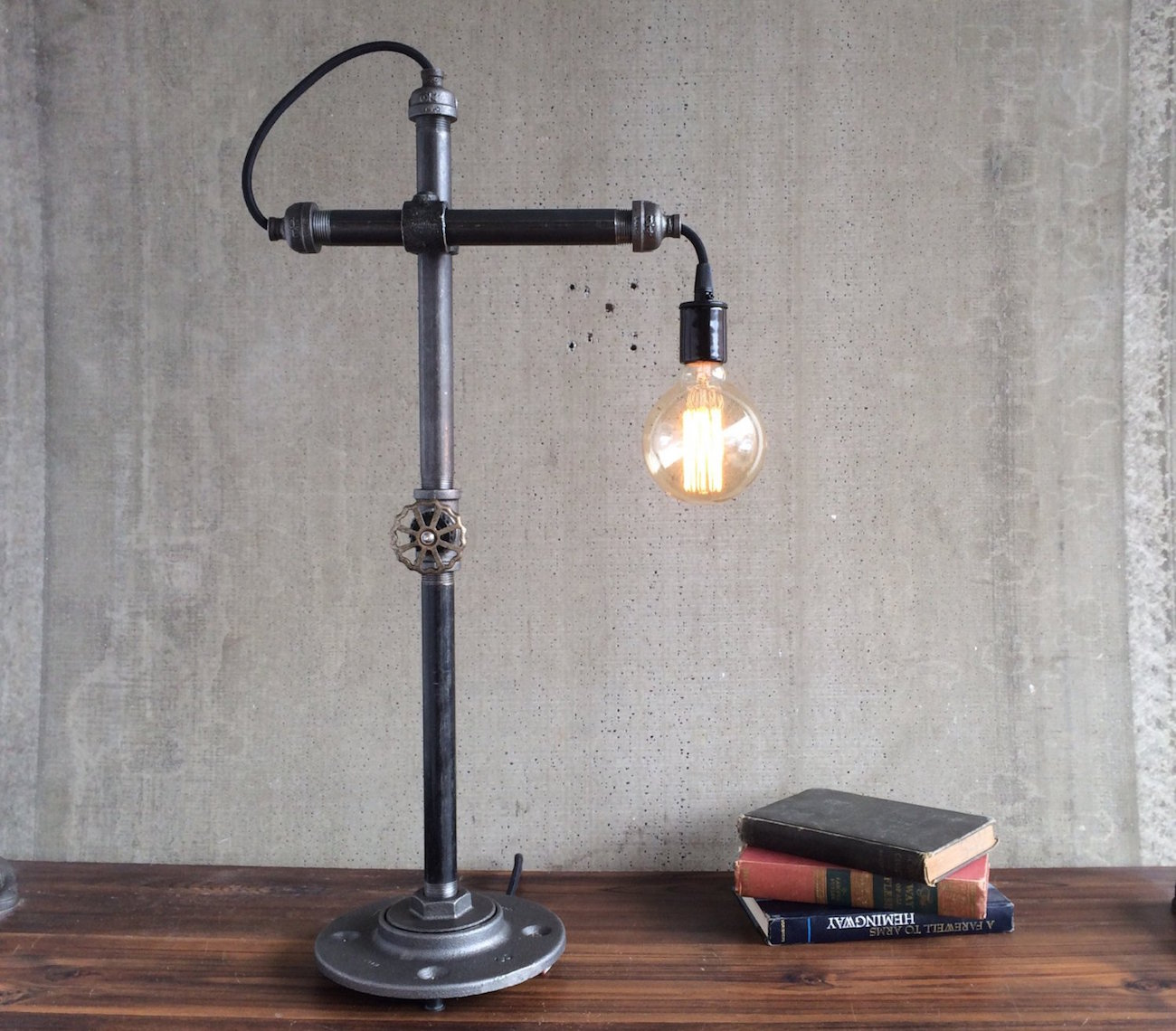 Industrial style work light by peared creation gadget flow for How to make an industrial lamp