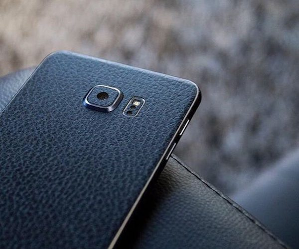 Leather Samsung Galaxy S6 Edge Wrap by SlickWraps