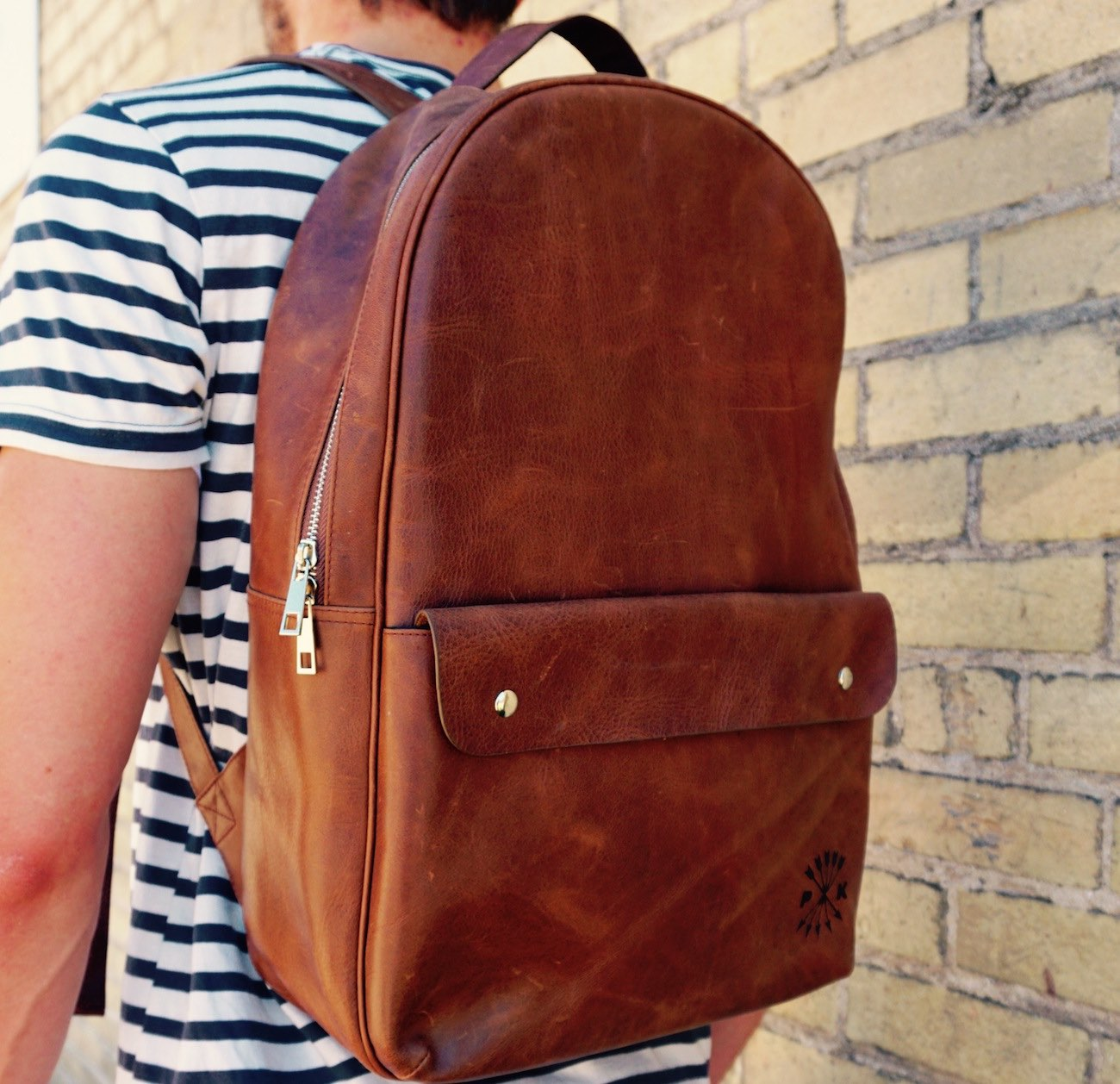 Minimalist Leather Backpack by Pask Goods