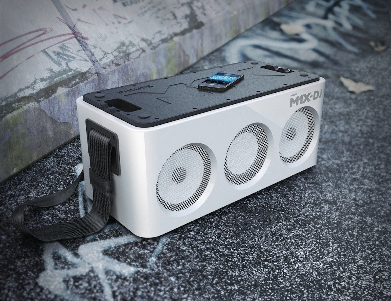 Philips M1X-DJ – Portable Sound System and Docking Station