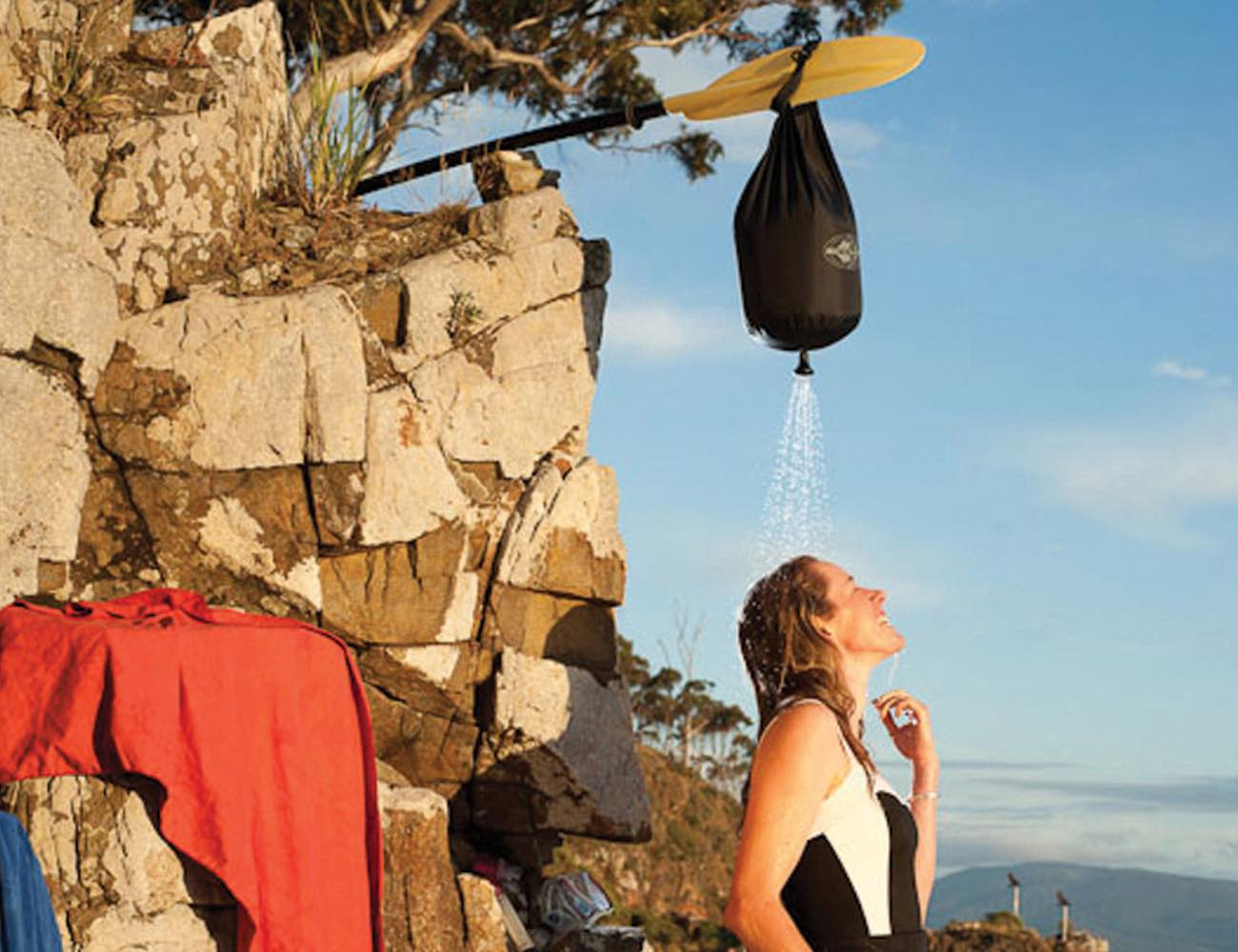 Pocket Shower by Sea to Summit Offersa Hot Shower On the Go