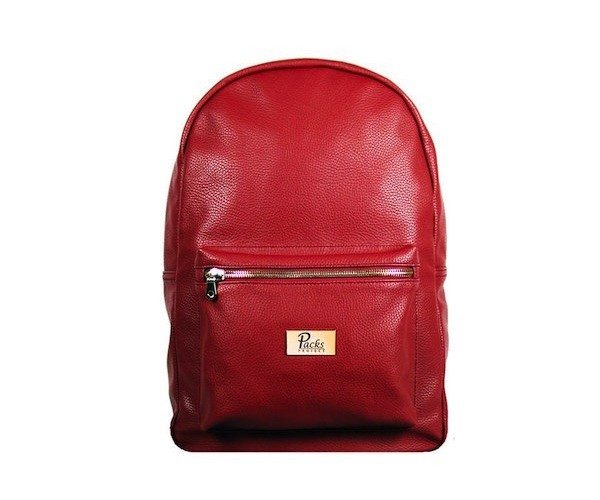 Red Mason Backpack by Packs Project – Full Grain Vegan Leather Design