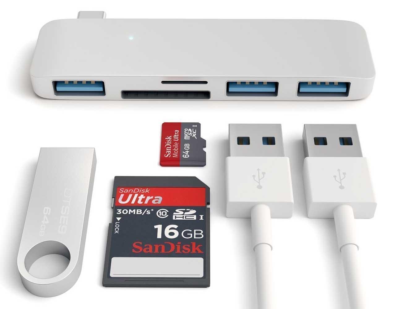 Satechi+Type-C+USB+3-in-1+Combo+Hub