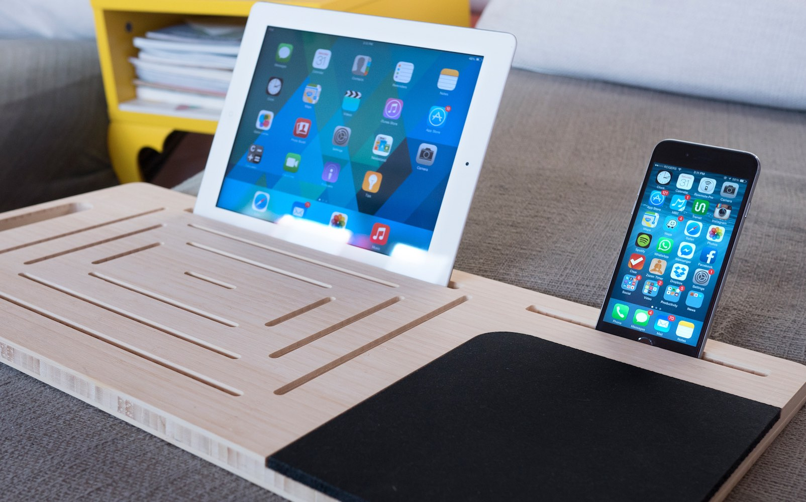 The LapPad – Mobile Desk for Laptops, Tablets, and Smartphones
