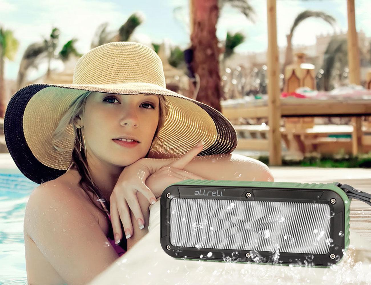 aLLreLi Rockman Portable Waterproof Bluetooth Speaker For Outdoor