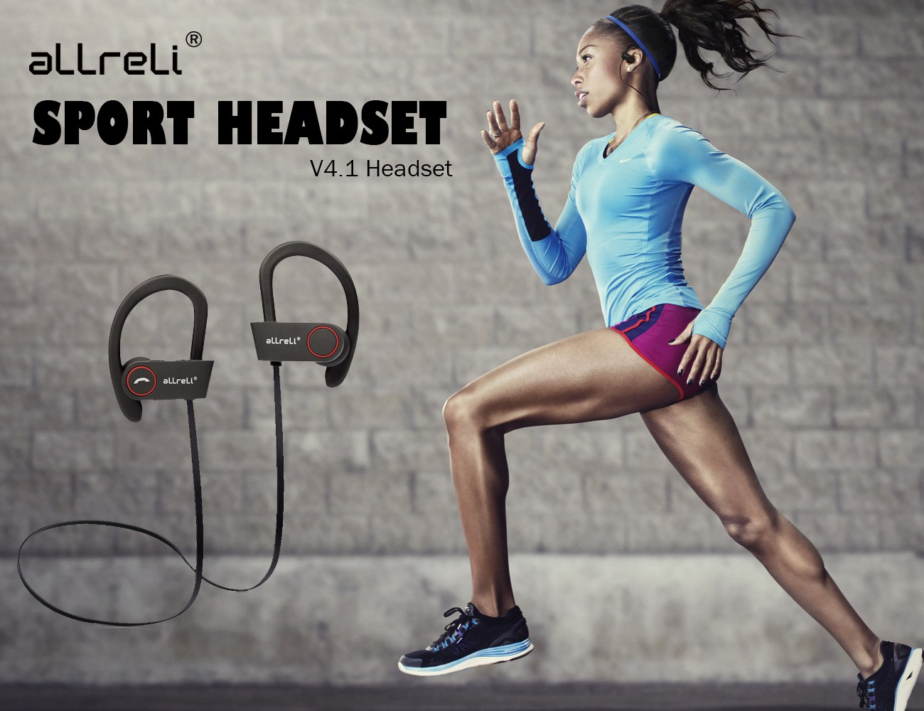 aLLreLi U8 Bluetooth 4.1 Sport Headphones