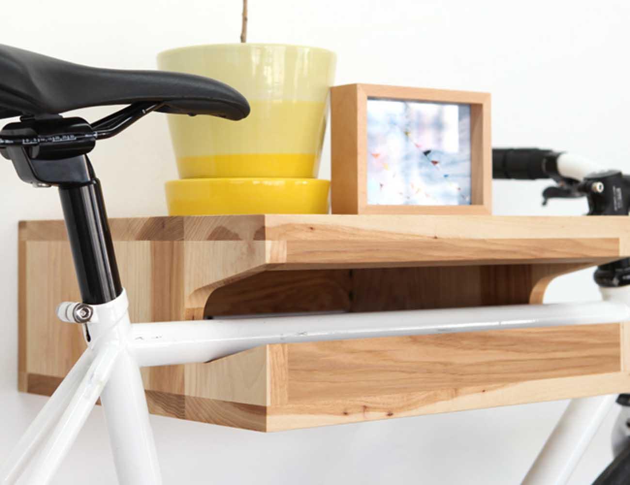 bikefritz – The Beautiful Wooden Bike Shelf