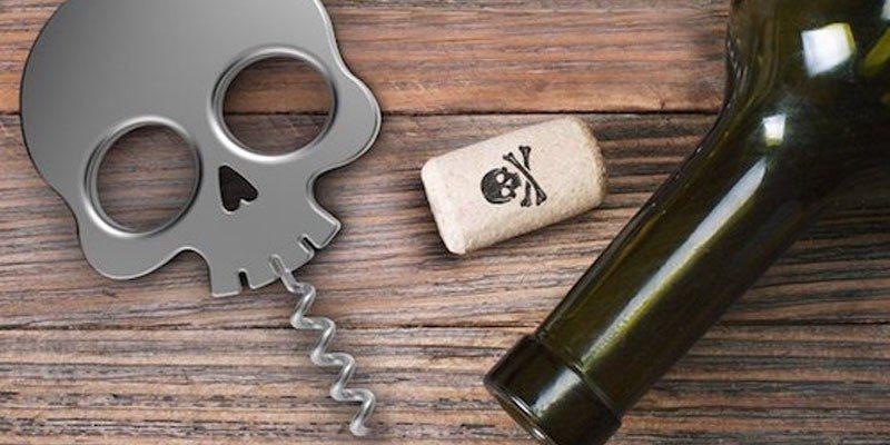 Bar Bones Skull Corkscrew